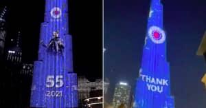 Rangers Fans Light Up World's Tallest Building In Dubai To Celebrate Title Triumph
