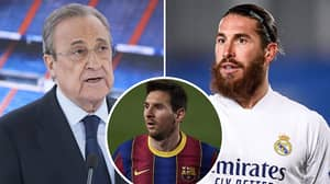 What Sergio Ramos Told Real Madrid President Florentino Perez In Meeting About Lionel Messi And PSG