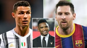 Samuel Eto'o Predicts 'New God' To Join Cristiano Ronaldo And Lionel Messi As A Football Great