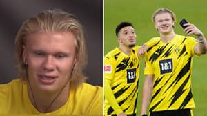 Erling Haaland Finally Reacts To Close Friend Jadon Sancho Joining Manchester United