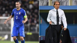 Roberto Mancini Made A Mistake In Italy Starting XI Last Night Because He Didn't Have His Glasses On