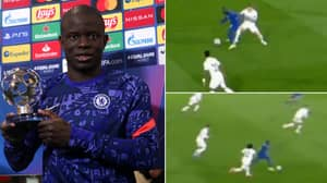 Compilation Of N'Golo Kante's Masterclass Against Real Madrid Proves He Is A Cheat Code