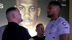 Andy Ruiz Jr And Anthony Joshua Come Face-To-Face In Intense Staredown In Saudi Arabia