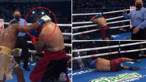 Boxer Nagy Aguilera Branded 'Embarrassing' For 'Quitting' In Theatrical Fashion In Sixth Round