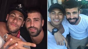 Neymar Perfectly Trolls Gerard Pique As Pair Are Reunited
