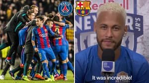 Neymar Has Trolled PSG By Saying His Favourite Memory Is Barcelona's Incredible 6-1 Champions League Win