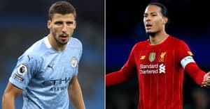 Fans Claim Ruben Dias Has Had Greater Impact At Manchester City Than Virgil Van Dijk At Liverpool