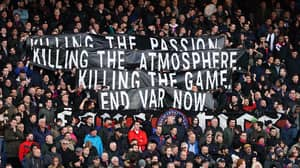 """Crystal Palace Fans Display """"End VAR Now"""" Banner During Arsenal Game"""