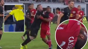 Wayne Rooney Sent Off For D.C United After Smashing Forearm In Opponent's Face