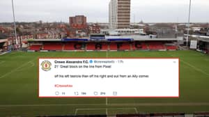 Crewe Alexandra Let A Player Takeover Their Twitter And The Results Are Brilliant