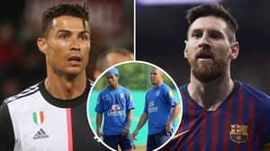 Ronaldo And Ronaldinho Both Settle The GOAT Debate Between Lionel Messi And Cristiano Ronaldo