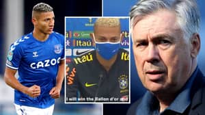 Richarlison Will Win The Ballon d'Or According To Everton Manager Carlo Ancelotti