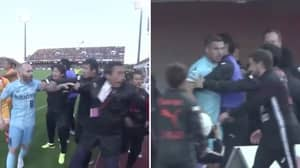Podolski And Iniesta End Up Getting In A Massive Brawl After Late Equaliser