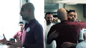 Pep Guardiola Gave Emotional 3 Minute Speech To Manchester City Players After Title Win