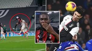 Fikayo Tomori Smashed Cristiano Ronaldo's Jump Record With Gravity-Defying Leap During Milan Vs Juventus