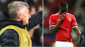 Ole Gunnar Solskjaer Is Forced To Wear A Bib On Manchester United Bench
