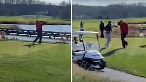 Donald Trump Shouts 'I Hate This F***ing Hole!!!' After Hitting Golf Ball Into The Water