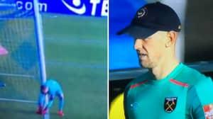 Joe Hart Borrows Cap From West Ham Fan In Shrewsbury Game