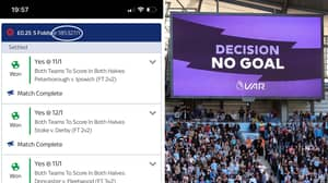 VAR Decision Ruins Punter's Whopping £45,000 Accumulator Return From A 25p Bet