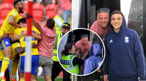 Birmingham Fan Arrested For Pitch Invasion Gets Visit From Che Adams In Police Van
