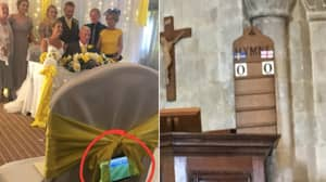 Wedding Guests Around The Country Are Doing Everything They Can To Watch England vs Sweden