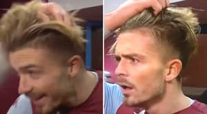 Jack Grealish Doesn't Look Too Happy After Teammates Mess His Hair Up