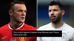 Fans Argue Sergio Aguero Is 'Better' Than Wayne Rooney After Breaking Man United Legend's Record