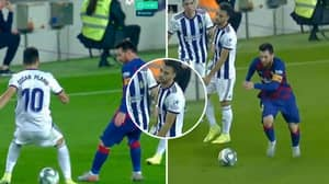 Oscar Plano Contemplated His Life Choices After Being On The Receiving End Of Filthy Lionel Messi Nutmeg