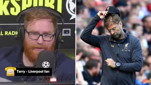 Fan Tears Up Over Liverpool's Season On Live Radio