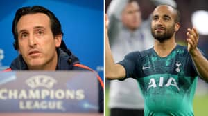 Arsenal And Spurs Fans Realise Unai Emery Sold Lucas Moura To Tottenham