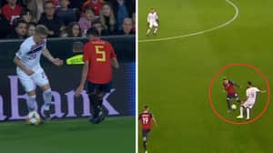 Sergio Busquets Gets Revenge On Martin Odegaard With The Cheekiest Nutmeg