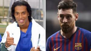Ronaldinho Is The Greatest Player Of All Time Ahead Of Lionel Messi, Says Former Barcelona Player