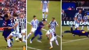 WATCH: Giorgio Chiellini Puts Luis Suarez On The Deck With Snide Tackle