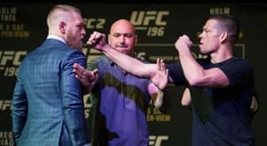 WATCH: Conor McGregor And Nate Diaz Meet At UFC 202 Press Conference