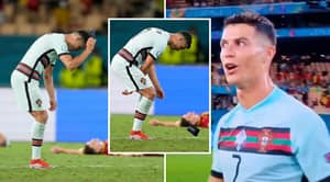 Furious Cristiano Ronaldo Throws Captain's Armband On Pitch After Portugal's Euro 2020 Exit To Belgium