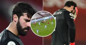 Fans Aghast As Alisson Hands Manchester City Victory Over Liverpool