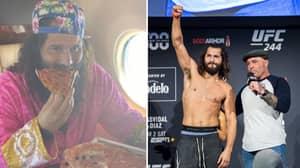 Jorge Masvidal Tucks Into Pizza On Plane To Fight Island, Despite Claiming He Needs To Shed 20lbs