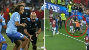 Marseille Physio Banned For A Year After Running On Pitch And Punching A Fan
