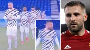 Luke Shaw's Bizarre Man United Pre-Match Routine Caught On 'Camera For First Time' Ahead Of Roma Clash