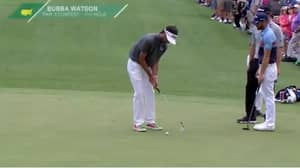 Bubba Watson Makes Ridiculous Putt In Masters Par Three Competition