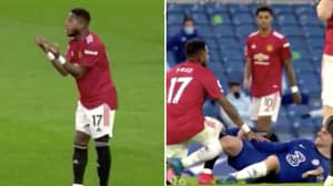 Manchester United Fans Think Mason Mount Should Be Punished After Footage Emerges Of Him Kicking Out At Fred