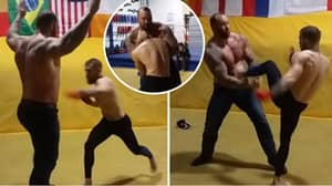 What Happened When Conor McGregor Sparred With 'The Mountain' From Game Of Thrones