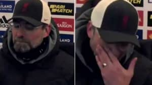 Jurgen Klopp Looked Like He Was About To Tear Up As He Conceded Title Race Is Over