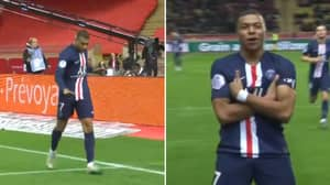 The Contrast In Kylian Mbappe's Celebration For His Goals Against AS Monaco Is Priceless