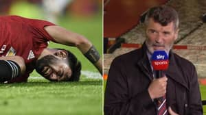 "Roy Keane On Bruno Fernandes: ""He Spent Half The Time Crying On The Pitch"""
