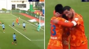 Marouane Fellaini Scores 7-Minute Hat-Trick Of Headers In Shandong Luneng's 3-2 Win