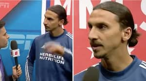 Zlatan Ibrahimovic Gave An Iconic Interview Before Scoring A Hat-Trick Last Night