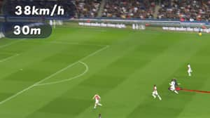 Kylian Mbappe Clocked Sprinting At An Insane 38 km/h Before His Goal For PSG