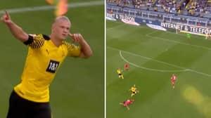 The Drone Cam Footage Of Erling Haaland's Assist Against Eintracht Frankfurt Is Wonderful