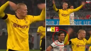 Hilarious Footage Has Been Released Of Erling Haaland Hyping Up The Fans